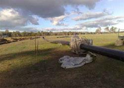 Welding a pipeline in the field