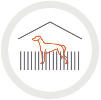 Icon of greyhound in shelter